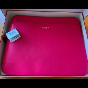 Coach NWT bright pink tablet case